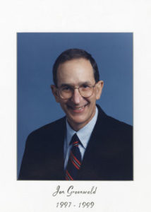 Dr Jon Greenwald 1997-99