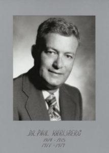 Dr Paul Karlsberg 1974-75 77-79