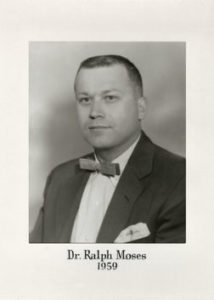 Dr Ralph Moses 1959