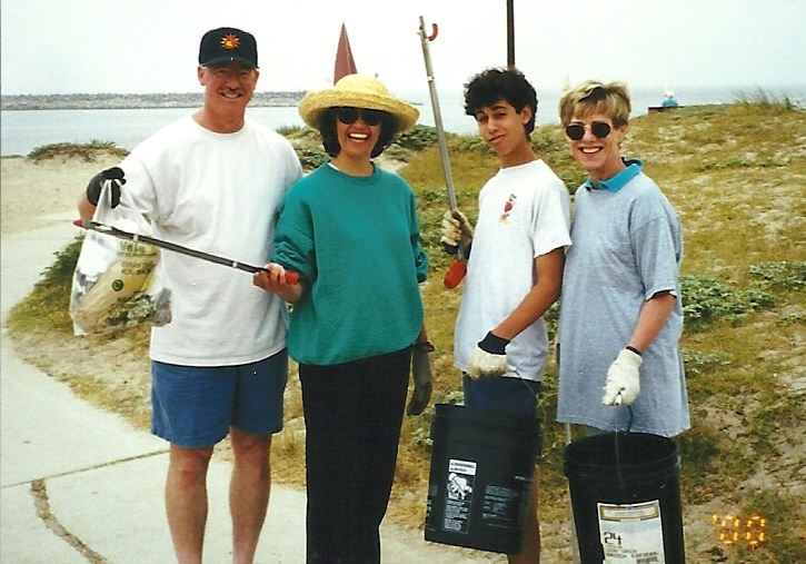 Mitzvah day beach cleanup
