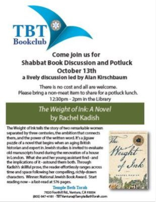 Shabbat Book Group Potluck