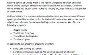 CW school of choice day 20190124