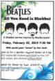 Beatles Shabbat Flyer 20190222