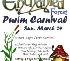Purim Carnival Flyer 20190324