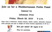 Purim Feast Shabbat 20190322