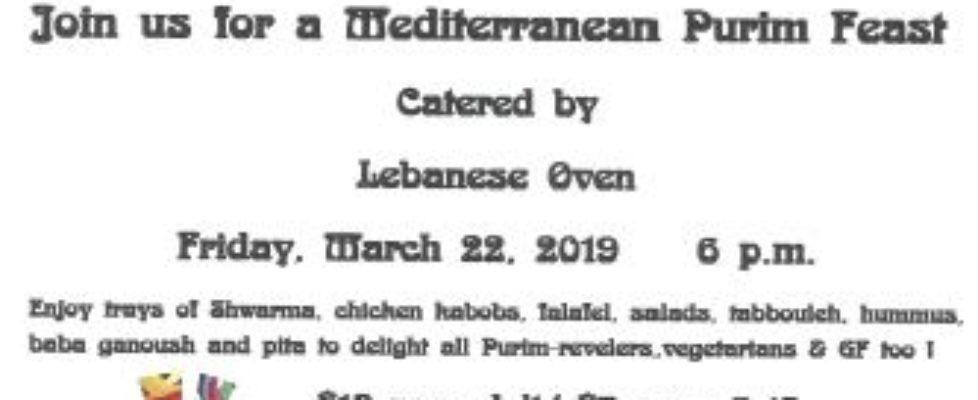 Purim Feast Shabbat 20190322