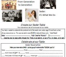 TBT First Night Seder 2019