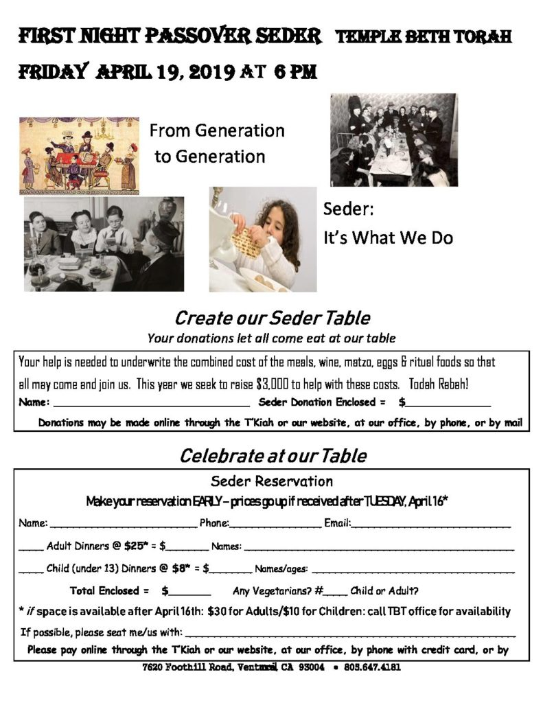 Happening Archives - Page 4 of 9 - Temple Beth Torah, Ventura