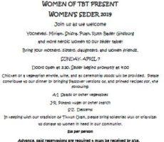 TBT womens seder 20190407