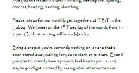 Women of TBT crafts 20190305