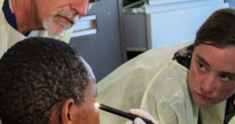 examining ebola survivor
